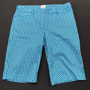 Laundry by Shelli Segal Shorts Stretch Dotted